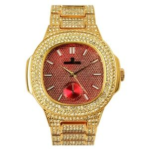 Other - Full Iced Out Red Face luxurious stylish watch
